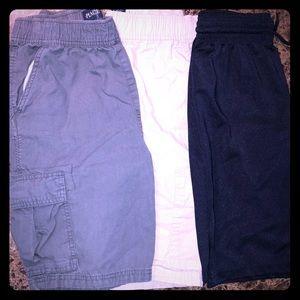 Other - 3 pairs of boys shorts, Dark Gray, Beige & Navy